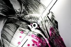 Mononoke Hime (SyntaxDot) Tags: street city paris france art rose rouge photo reflex eyes noir expo lumire dessin oeil yeux exposition loup graff sang couleur transparence ligne regard yohan urbain monstre non jeux trait imaginaire dynamique peinceaux virard