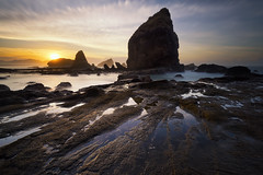 Papuma Sunrise (eggysayoga) Tags: nikon d810 nikkor 1635mm f4 wide ultra angle lens lee 09 hard graduated nd gnd filter beach papuma tanjung pasir putih malikan pantai java east timur jawa jember rock batu karang indonesia asia cloud sun sunrise sea seascape landscape seaside shore ocean haida nd1000 nd30 bigstopper longexposure le ss slowspeed slowshutter sky