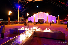 20160618-02-Fire cross at Dark MOFO 2016 (Roger T Wong) Tags: lighting night fire lights cross australia tasmania hobart 2016 pw1 sony1635 princeswharf1 rogertwong darkmofo sel1635z sonya7ii sonyilce7m2 sonyalpha7ii sonyfe1635mmf4zaosscarlzeissvariotessart