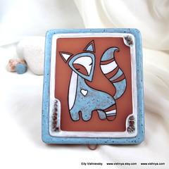 Magic talking fox - Home amulet (vavaleff) Tags: wedding home bag tea turquoise terracotta ring fantasy gift friendly romantic material organic eco holder stoneware ecofriendly dcor
