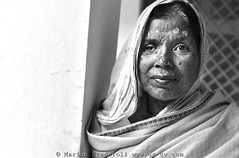"""White Widows """"a life without color"""" (Marion Staderoli) Tags: india women widows whitewidows report photographer reporter vrindavan portrait blackandwhite ashram maitri ngo veuvesblanches reportage inde travel"""