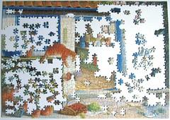 Garden Visitors (Bernard Willington) (Leonisha) Tags: puzzle unfinished jigsawpuzzle