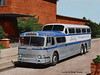 Greyhound Scenic Colorized (gdmey) Tags: greyhound scenicruiser bus colorized