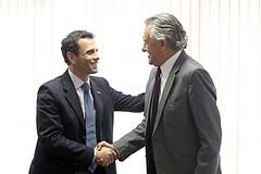Visita de Henrique Capriles - 14/06/2016 (Ronaldo Caiado) Tags: visita de henrique capriles 14062016 senadorcaiadoelderes receberamumadasprincipaislideranasdaoposionavenezuela henriquecaprilescrditossidneylinsjregeorgegianni senador do brasil gois