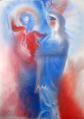 Our Lady of France. 2016 by Stephen B. Whatley (Stephen B. Whatley) Tags: art expressionism ourladyoffrance nice france nicefrance bastilleday bastilleday2016 peace holy love compassion sympathy memorial hope christian catholic drawing pastel pasteldrawingcontemporary notredamedefrance notredame french motherchild prayers prayforfrance vivelafrance life blessedvirginmary jesus jesuschrist god infantjesus artiststephenbwhatley whatley stephenwhatleyartist liberty freedom libert paris stephenbwhatley stephenbeckettwhatley lepuyenvelayin lepuy cathedral francoisehollande presidenthollande nicecathedral colourartaward blueribbonwinner abigfave
