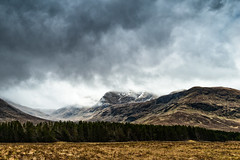 Enter the Highlands (cylynex) Tags: scotland highlands uk mountains clouds landscape scenery cloudy cloudysky storm field nikon travel d800 santocommarato europe