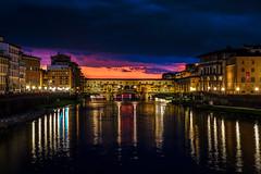Ponte Vecchio una sera di luglio (binoguzzi) Tags: sunset florence fuji fiume ponte firenze fujifilm nightview arno toscana fujinon pontevecchio xt10 flickrunitedaward fujilover fujixt10