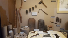 Tools and other artifacts in the Tuzigoot Museum