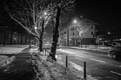 Gliwice (nightmareck) Tags: winter snow night europa europe fuji poland polska handheld fujifilm zima fujinon nieg silesia gliwice pancakelens xe1 apsc mirrorless lskie grnylsk xtrans fotografianocna xmount xf18mm xf18mmf20r bezlusterkowiec