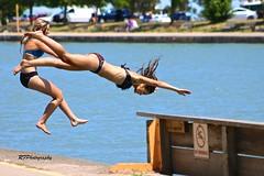 Jump Or Dive? (richardf957 ( Thanks For All The Views)) Tags: woman water port swim dive teens bikini dalhousie richardf rfphotography richardf957