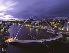 Millennium_Bridge_04 (nuinternationaladmissions) Tags: bridge city cityandregionbuildings copyright external folder general generalfolder millennium millenniumbridge04jpg ngi newcastle pictures picturescopyrightngi buildings landscape quayside region river rivertyne tyne