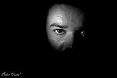 """Luz no Rosto I"" (Pedro Ramos Costa) Tags: bw costa eye face canon dark eos photo eyes olhar pessoa cara pedro staring gazing homem ramos rosto escuro eosd 700d photoskillz eosdeurope"