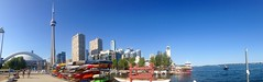Toronto Panorama (anatennis) Tags: travel panorama toronto canada tourism water boats photography cityscape canoes harbourfront