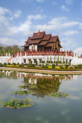 Temple Reflections (tylerkingphotography) Tags: city travel garden thailand photography nikon southeastasia photographer outdoor royal explore backpacking thai chiangmai 1855mm traveling amateur d3100