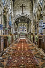 St Mary's Thirsk (Yorkshire) (David Baldock Photography) Tags: building architecture fuji aisle xpro1