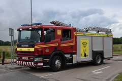 DSC_3040 (matthewleggott) Tags: rescue water fire industrial estate smoke yorkshire flames engine police ambulance hose service pocklington humberside applaince