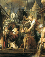 Jacob Jordaens The Miracle of the Coin in the Mouth of the Fish Netherlands (c. 1630 - 1645) Oil on Canvas; 119  197.5 cm. Rijksmuseum, Amsterdam (medievalpoc) Tags: fish art history netherlands mouth coin miracle jacob the 1600s jordaens medievalpoc