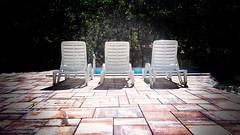 ... poolside ... (jane64pics) Tags: 2016 26 rule odds chairs pool snapseed 3 setofthree three poolside janefriel2016 52weeksof2016 gcc week26