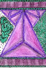 TangleInATangle Swap -006 (ronniesz) Tags: visualarts artisttradingcards strings doodles zia swaps linedrawing penandink tangles adultcoloring zentangleinspiredart finelinepens