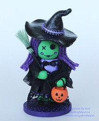 My Latest Creation (thedollydreamer) Tags: green doll artist oneofakind ooak polymerclay clay collectible etsy whimsical signed numbered trickortreater halloweenwitch bridgetdellaero clayedfromtheheart