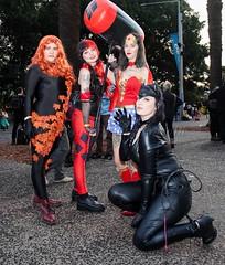 Feminine DC Comics (l plater) Tags: woman wonder cosplay dccomics catwoman poisonivy harleyquinn sydneyolympicpark supanovaexposydney2016