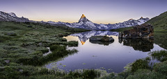 Burning Toblerone (PhiiiiiiiL) Tags: zermatt wallis schweiz ch matterhorn sunrise stellisee panorama stelli lake switzerland lan mountain alps valais outdoor landschaft landscape nikon d810 berg toblerone morning glow morgen glhen alpenglhen