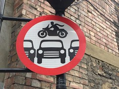 No daredevils (Matt From London) Tags: streetart sign motorbike leap daredevil stunt daredevils deathdefiance