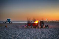 moonshadows (... Marlo Lao) Tags: ocean california sunset santacruz lighthouse post lifeguard bonfire twinlakesbeach eastcliffdrive nikond40 marlolao
