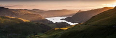 Ray of Light (explored) (Dave Fieldhouse Photography) Tags: summer mountains sunrise landscape countryside nationalpark sheep lakes lakedistrict cumbria birks patterdale ullswater glenridding stsundaycrag wildcamp grisedale stitchedpanorama explored kirkfell inexplore lancashirelife