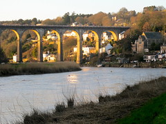 Around Calstock (Joanpix) Tags: sunset england cornwall viaduct tamarvalley calstock aonb