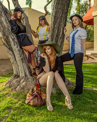Hanging Out in the 'Hood (Laveen Photography (aka cyclis451)) Tags: arizona hat fashion ties shoes pants legs jerry az skirt purse boutique fedora garcia handbag avant garde tempe cyclist451 laveenphotography trampalina