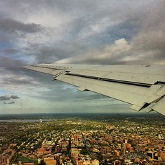 Wheels Up! (pobrecito33) Tags: nyc newyorkcity ny newyork skyline square airplane flying flight jet delta queens squareformat lga airtravel iphone deltaairlines iphoneography instagram instagramapp uploaded:by=instagram