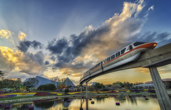 Monorail Monday (Allen Castillo) Tags: train orlando epcot nikon florida transportation monorail waltdisneyworld themepark futureworld nikcolorefexpro d7000 tokina1116 monorailmonday