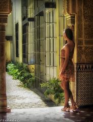 Ser una moderna princesa nazar...... (nanettesol) Tags: light girl contraluz chica princess andalucia alhambra granada tacones princesa carmen vestido morena transparencias nazari martires