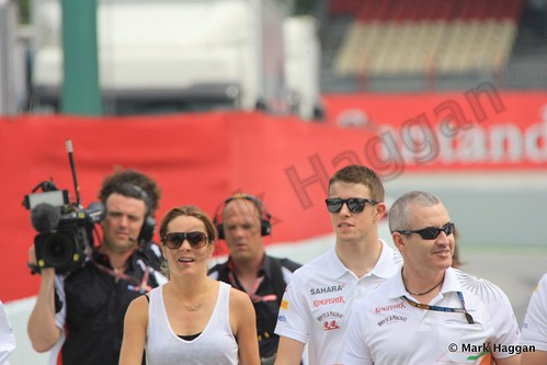 Paul Di Resta and Natalie Pinkham at the 2013 Spanish Grand Prix
