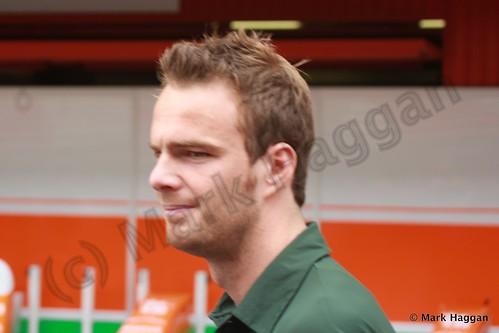 Giedo van der Garde at the 2013 Spanish Grand Prix