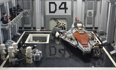 The Force Unleashed - Hangar D4 (N-11 Ordo) Tags: rebel star eclipse fight force lego hangar battle darth empire stormtrooper imperial lightsaber wars vader sith juno ordo the moc unleashed n11 starkiller legography