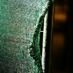 (SteffenTuck) Tags: morning light orange green dark outside shadows exterior mesh brisbane safety drape fencing constructionsite hang stlucia folds uq universityofqueensland steffentuck