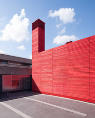 The Shed, Haworth Tompkins Architects (@andymatthews) Tags: red concrete timber temporary nationaltheatre theshed redboards temporarytheatre andymatthews andymatthewsphotography