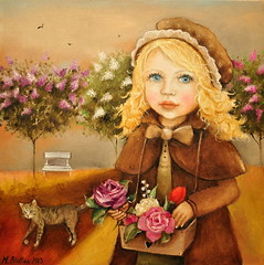Flower-Girl (Monica Blatton) Tags: flowers girl childhood birds animals mystery modern cat children gladness kid handmade contemporary fineart happiness lilac handpainted oil oilpaintings oils mystic oilpainting realism oiloncanvas carelessness blatton canvaspainting carefreeness