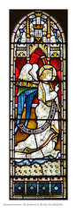 Annunciation: St Andrew's, Kirby Gridalythe (Roger Walton) Tags: uk england yorkshire angels annunciation stainedglasswindows biblicalfigures kirbygrindalythe scripturalreferences standrewskirbygrindalythe