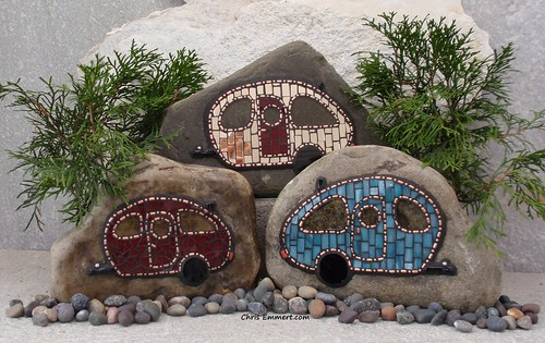 """At the Campground"" Mosaic Caravans"
