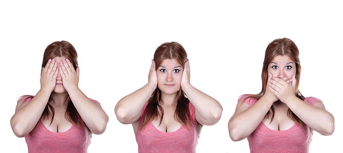 See No Evil, Hear No Evil, Speak No Evil poses.