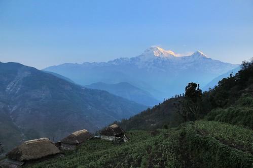 First morning of the trek, Annapurna, Nepal