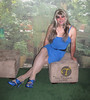 Seeing Blue (Veronica Mendes (formerly Toni Richards)) Tags: blue cute sexy tv long dress transformation legs sandals cd adorable makeup crossdressing tgirl transgender wig transvestite toni slip ecstasy lipstick euphoria lovely stiletto richards transgendered pantyhose glittery crossdresser ts tg strappy mtf travesti transgirl transwoman tonirichards