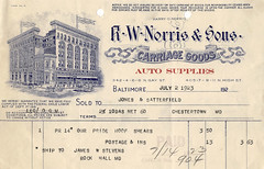 R.W. Norris & Sons (Vintage Baltimore) Tags: old vintage paper early check md postcard ad 1800s victorian maryland baltimore goods historic retro advertisement postcards antiques 20thcentury receipts documents checks letterheads tradecards blotters billofsale billheads