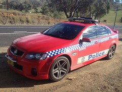 Gundagai 205 (NSW emergency vehicles) Tags: blue red white car highway police nsw form patrol holbrook holden yass cooma