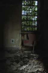 Chair (Reid A.) Tags: park urban hospital island graffiti long destruction kings exploration asylum psychiatric