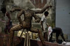 Even Gods Are Mortals (Soumen Halder) Tags: festival hindu kolkata calcutta durga westbengal kumartuli powergoddess