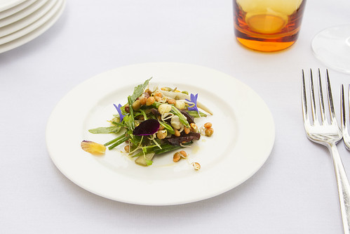 Barkham Blue cheese and herb salad © Royal Opera House Restaurants 2013